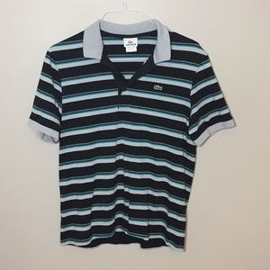 LACOSTE Striped Polo Style Shirt Size 5